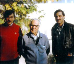 از راست: امیر، محسن و فؤاد بدیع