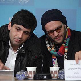 بابك حميديان و حميد گودرزی در نشست مطبوعاتی «روباه»